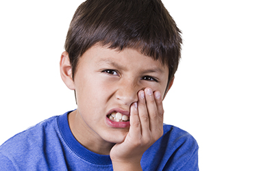 Child with tooth sensitivity